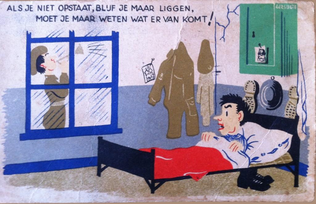 Hendrik ten Brink hospitaal kaartje vlak voor zijn vertrek naar Indie