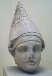Hoofd van (vml) Antiochos - museum Adiyaman en gevonden in Arsameia