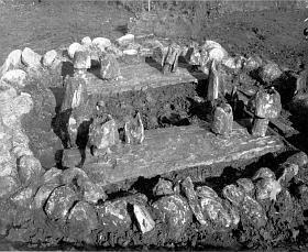 opgravingsfoto tempeltje van Barger-Oosterveld