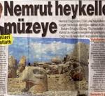"""Bericht in de """"Posta"""" over verplaatsing van de hoofden op de Nemrud."""