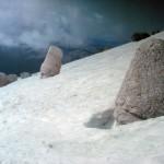Westterras van de Nemrud aan het eind van de winter.
