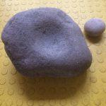 napjes steen, eerste vondst Fokke Kiestra - 28 kilo