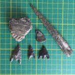 bronstijdvondsten Do van Dijck met doorboorde hanger en vml. benen priem